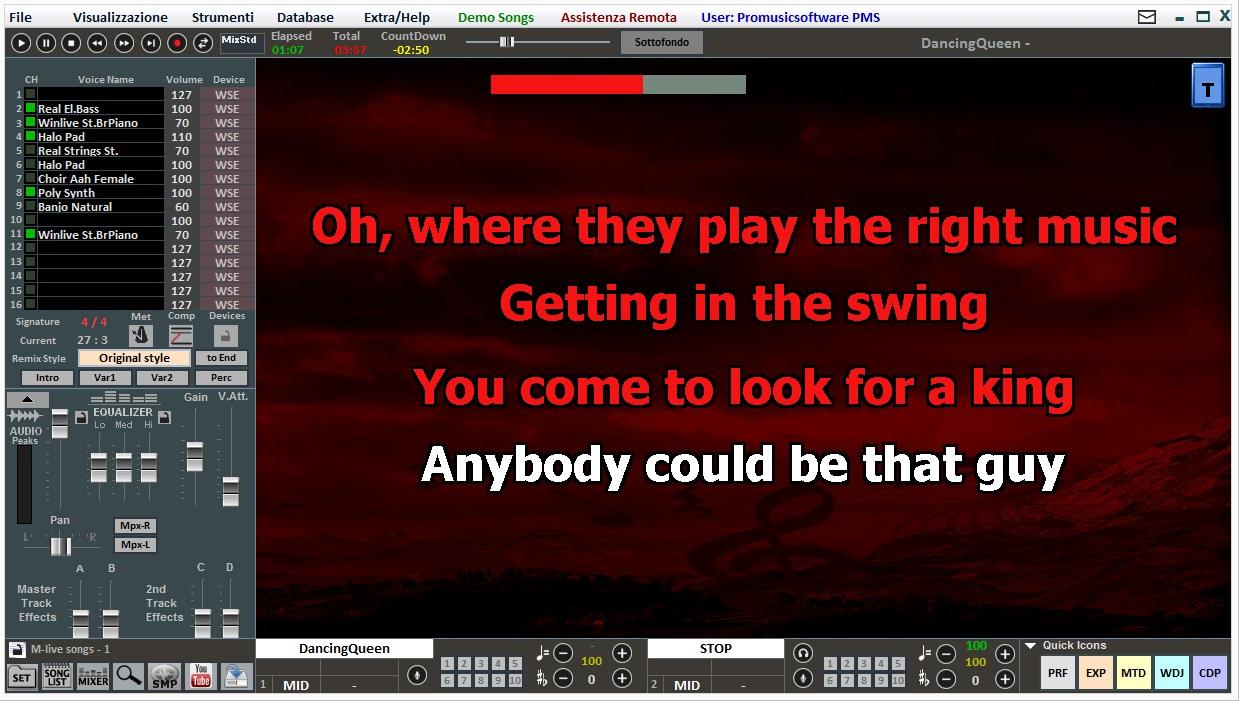 Promusicsoftware Winlive Pro 9 - Software Karaoke multiplayer | Pro