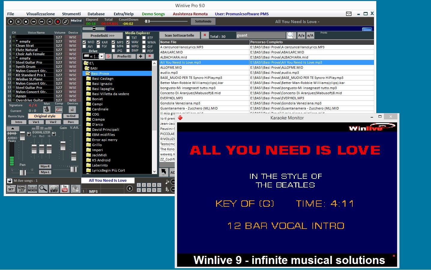 Promusicsoftware Winlive Pro 9 - Software Karaoke